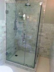 Facile à nettoyer la salle de bain trempé personnalisé porte porte de la salle de douche