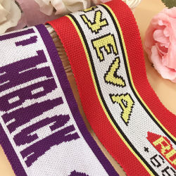 El poliéster Non-Elastic coser tejidos Crochet cincha elástica de la banda de cinta con la impresión de logotipo