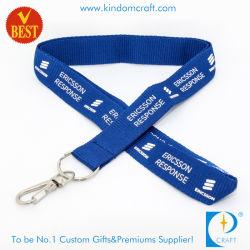 Venta caliente Diseño personalizado de impresión de poliéster plana Cordón Correa para cuello la cinta de China en alta calidad