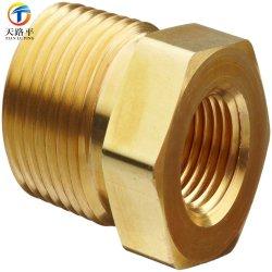 La extensión del tubo de latón personalizado pezón para medidor de gas