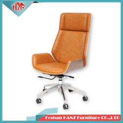 Ben bois pivotant en cuir Chaise de bureau responsable de réunion avec Hand-Rest (Hz-506)