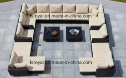 Новый удобный диван ротанга устанавливает диван в саду отеля патио мебель