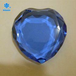 Artesanato de cristais de diamante Heart-Shaped bypass suporta formatos entre vidro