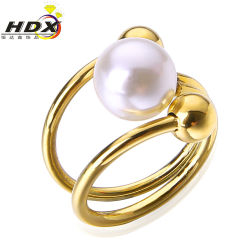 2017 Fashion Stainless Steel Jewelry Women Pearl Ring/Jewelry