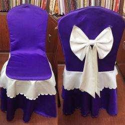 Malha acetinada estilo europeu de luxo Banquetes Capa Cadeira