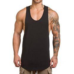 Cotone normale molle su ordinazione della maglietta giro collo per gli uomini