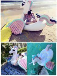 Caballo inflable de flotación de la piscina gigante nadar Pegasus Anillo salvavidas adulto flotante de la Mujer de la isla flotante de natación piscina playa colchón de aire