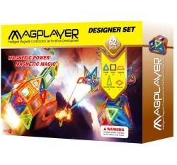 62PCS 3Dの希土類磁石およびABSが付いている教育磁気赤ん坊のおもちゃ
