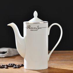 화이트 커피포트 순수 용기 Porcelain 커피 포트 세라믹 커피 티봇