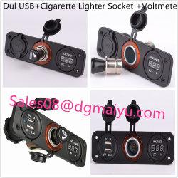 Coche USB Cargador encendedor y voltímetro