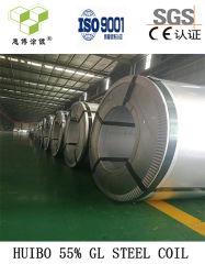 Bobina d'acciaio ricoperta colore preverniciata galvalume della lega dello Al-Zn di 55%