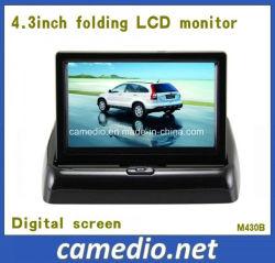 4.3Inch independiente plegable espejo Monitor TFT de coche con 2 entradas AV&Pantalla Digital