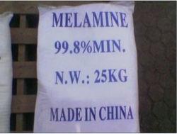 Usine de la poudre blanche d'alimentation de la mélamine de 99,8 % pour le MDF
