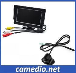 Monitor LCD de 5 pulgadas de coche con 360 grados de la Cámara de coche impermeable