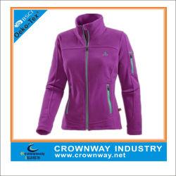 Schmal Geschnittene Fleece-Jacke für Damen mit Custom Logo Stickerei