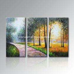 Faça o seu próprio quarto paisagem moderna artesanais Galpão de pintura a óleo (LA3-031)