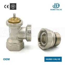 Ente di valvola termostatico del radiatore di angolo di pollice di alta qualità 1/2 ''
