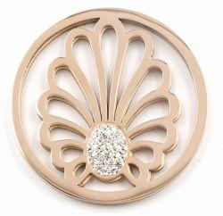 白い水晶が付いている方法ステンレス鋼の硬貨の版