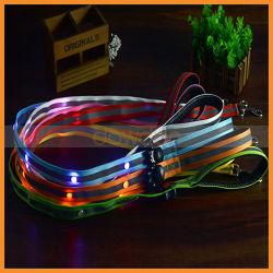 Оптовая торговля 120 см (длина 2,5 см Ширина мигающий светодиод собака Узду снов в ночное время