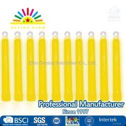 Bâtonnets Lumineux jaune - 6 pouces de qualité industrielle, Ultra Bâtonnets Lumineux avec la durée de 12 heures (Pack de 10)