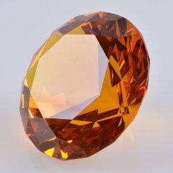 Желтые хрустальное стекло Diamond для поблагодарить в подарок свадебный подарок