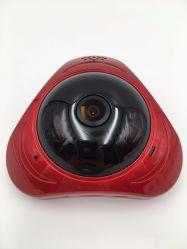 3MP Fisheye panoramische Kamera 360 CCTV-Kameras MiniWiFi Überwachungskamera Überwachung der Grad IP-Kamera 3D Vr video mit Speicher Ableiter-Einbauschlitz rotem Colar Gehäuse
