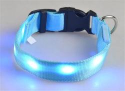 도매 저속한 조정가능한 개 애완 동물 고리 안전 나일론 LED 고양이 고리