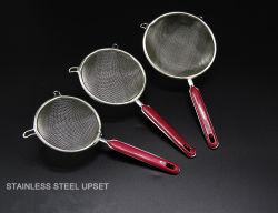 Küche-Hilfsmittel-Edelstahl-Ineinander greifen-Grobfilter der Qualitäts-3PCS