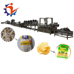 Equipamento de fritura de fábrica fresca de batatas fritas congeladas fazendo a máquina totalmente automática determina a linha de produção de batatas fritas para venda
