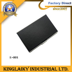 Leather genuino Business Cardholder per Promotional Gift (K-001)