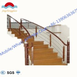 Intérieur moderne chinois Portable Balustrade en acier de verre/bois escalier en verre