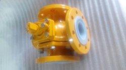 T من النوع PFA مبطنة صمام الكرة ثلاثي الاتجاه للمواد الكيميائية