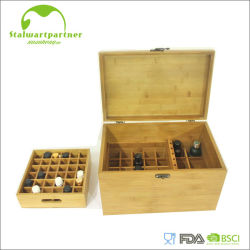 자석 뚜껑을%s 가진 대나무 장식적인 기름 저장 상자