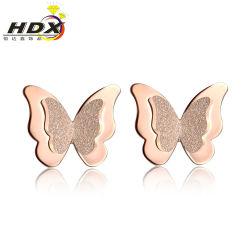Les filles de beaux bijoux de mode Butterfly-Shaped boucles en acier inoxydable 316L