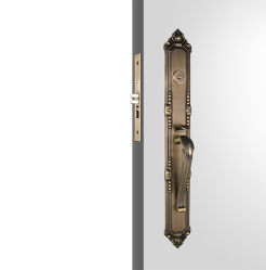 Serrure de porte en laiton poli unique cylindre Handleset Alliage de zinc de luxe