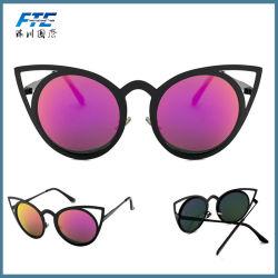 Новых женщин солнечные очки Vintage Cat Eye солнцезащитные очки металлические очки