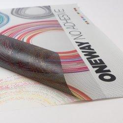 Janela de impressão digital e a palavra de uma forma de PVC vinil de visão