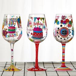La pintura de mano copa vino copa de champán Personalizar pintada a mano vaso de vino