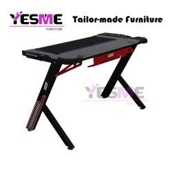 Yesme Möbel-Spiel-Schreibtisch mit LED-Licht für Büro-Ausgangsschule-Internet-Stab E-Sport