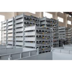 La logística de almacén de alambre de acero galvanizado de pila de almacenamiento de contenedores de malla de cajas de metal para Pet Prefrom Storage