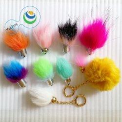 Sacchetto accessorio della pelliccia POM Poms dell'involucro di regalo e catena chiave della sfera accessoria della pelliccia del telefono mobile