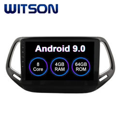 Witson Touch doble DIN coche reproductor de DVD GPS para coche Jeep Compass reproductor DVD Pantalla táctil