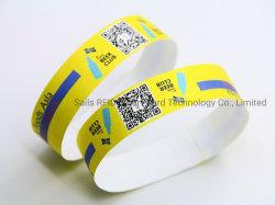 Fixe ou autre code QR Code-barres sur étiquette RFID ou bracelet en PVC