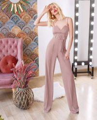 Rutschen Dame-Sommer-reizvolle rosafarbene Overall-lose Hosen-trägerlose Hosen Backless Overall-Denim-Jeans
