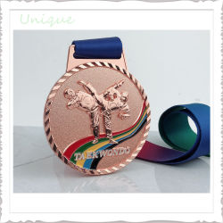 공장 공급 도매 사용자 정의 로고 Blank Metal Sport 태권도 복싱 유도 챔피언 골드 실버 카니발 가라테 메달