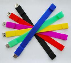 محرك أقراص USB محمول من السيليكون المعصم والبيع على نحو مذهل مع مصابيح ملونة