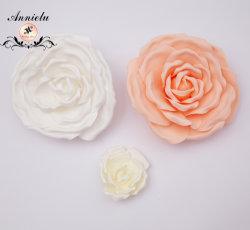 Commerce de gros de la mousse de caoutchouc artificiel Fleur pour la décoration de fleurs de mariage