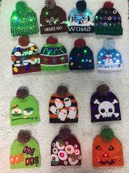 Kundenspezifische LED-Weihnachtswinterwärmer gestrickte Beanie-Hüte
