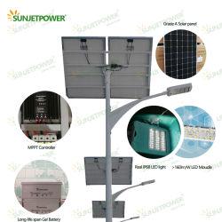 Luz de Rua LED IP68 7m por imersão a quente de aço galvanizado Pole MPPT controlador de carga 60W Luz Rua Solar com painel solar Ja