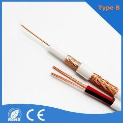 Le câble du moniteur RG59 avec puissance siamois fil Audio et vidéo